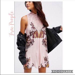 NWT Free People Marsha Printed slip Dress